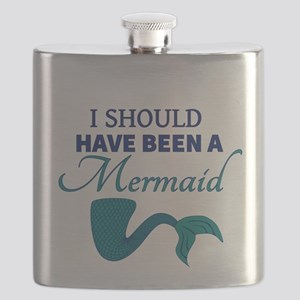 I Should Have Ben a Mermaid Flask