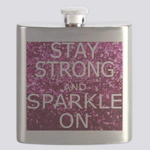 Stay Strong And Sparkle On Flask