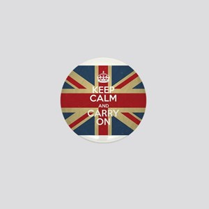 Keep Calm And Carry On Mini Button