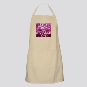 Stay Strong And Sparkle On Apron