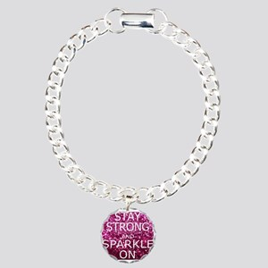 Stay Strong And Sparkle Charm Bracelet, One Charm