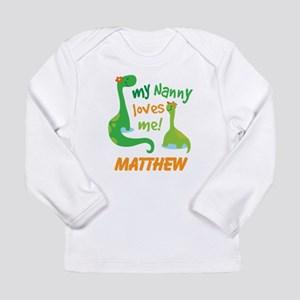 My Nanny Loves Me Personalized Long Sleeve T-Shirt