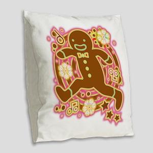 The_Gingerbread_Man Burlap Throw Pillow