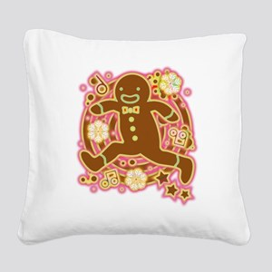 The_Gingerbread_Man Square Canvas Pillow