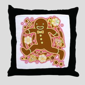 The_Gingerbread_Man Throw Pillow