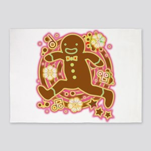 The Gingerbread Man 5 X7 Area Rug