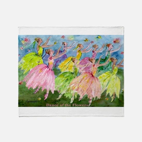 flowerdance1..jpg Throw Blanket