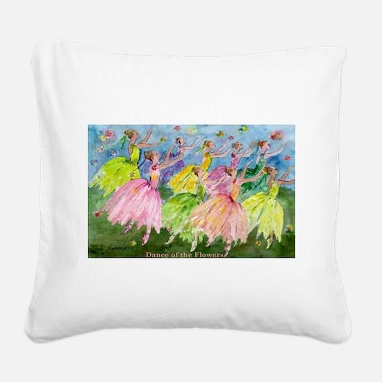 flowerdance1..jpg Square Canvas Pillow