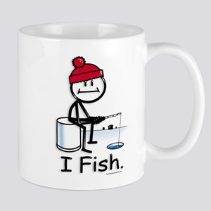 Ice Fishing Stick Figure Mug