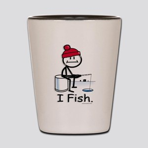 Ice Fishing Stick Figure Shot Glass
