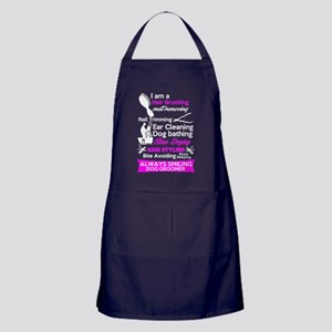 Dog Groomer T Shirt Apron (dark)
