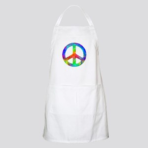 Distressed Rainbow Peace Sign Apron