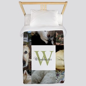 Photo Block with Monogram and Name Twin Duvet
