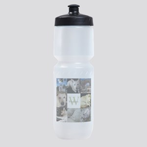 Photo Block with Monogram and Name Sports Bottle