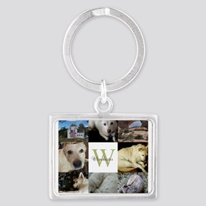 Photo Block with Monogram and Name Keychains