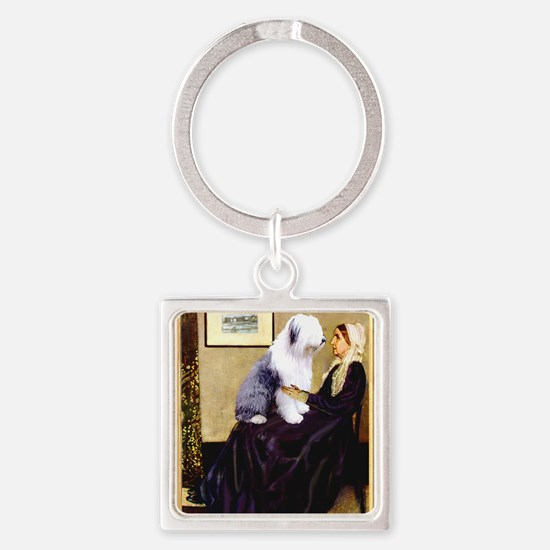 Mom's Old English Sheepdog Keychains