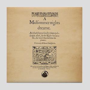Midsummer Nights Dream Tile Coaster