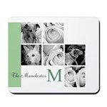 Monogram and Your Photos Here Mousepad