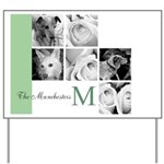 Monogram and Your Photos Here Yard Sign
