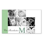 Monogram and Your Photos Here Sticker