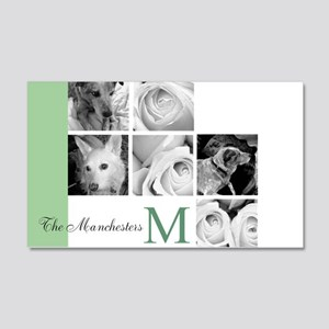 Monogram and Your Photos Here Wall Decal