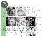 Monogram and Your Photos Here Puzzle