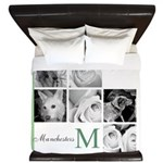 Monogram and Your Photos Here King Duvet