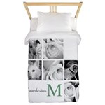 Monogram and Your Photos Here Twin Duvet