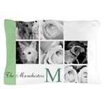 Monogram and Your Photos Here Pillow Case
