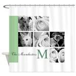 Monogram and Your Photos Here Shower Curtain