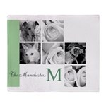 Monogram and Your Photos Here Throw Blanket