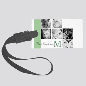 Monogram and Your Photos Here Luggage Tag