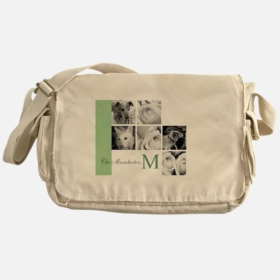 Monogram and Your Photos Here Messenger Bag