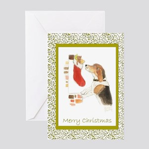 Beagle Christmas Cards Greeting Cards