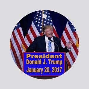 President Trump Inauguration Round Ornament