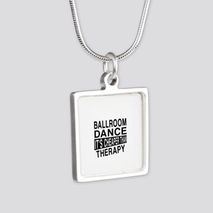 Ballroom Dance It Is Cheap Silver Square Necklace