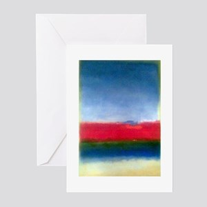 Rothko RED WHITE BLUE Greeting Cards