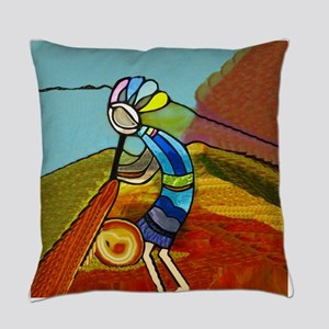 Rainbow Kokopelli Native American Everyday Pillow