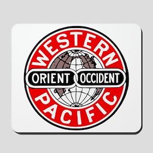 Western Pacific Railroad logo Mousepad