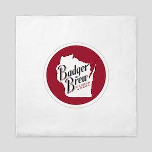 Badger Brew Round Logo 2 Queen Duvet