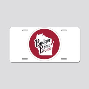 Badger Brew Round Logo 2 Aluminum License Plate