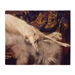 Blonde Borzoi Lounging Throw Blanket