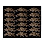 Leaping Borzoi Black-Gold Throw Blanket