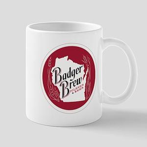 Badger Brew Round Logo Mugs