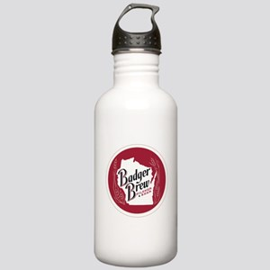 Badger Brew Round Logo Stainless Water Bottle 1.0L