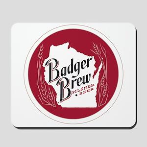 Badger Brew Round Logo Mousepad