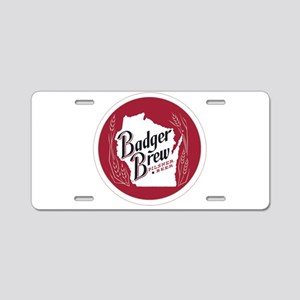 Badger Brew Round Logo Aluminum License Plate