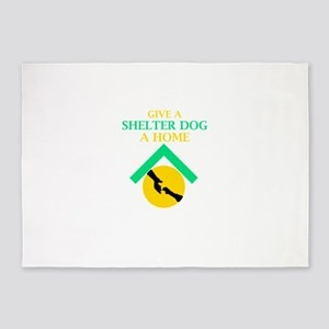 Give a shelter pet a loving home 5'x7'Area Rug