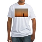 p0083. lone.. Fitted T-Shirt