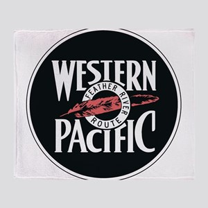 Western Pacific Railroad Feather Rou Throw Blanket